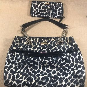 Kate Spade Leopard Purse and Wallet Set